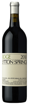Ridge Vineyards Lytton Springs Zinfandel