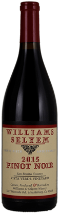 Williams Selyem Vista Verde Vineyard Pinot Noir 2015