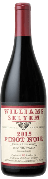 Williams Selyem Foss Vineyard Pinot Noir 2015