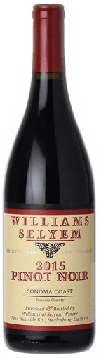 Williams Selyem Sonoma Coast Pinot Noir 2015