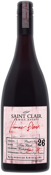 Saint Clair Pioneer Block 26 Tutu Block Marlborough Pinot Noir